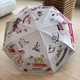 Cotton sun umbrella online shopping - Women Fold Umbrella Automatic Camellia Flower Parasol Sunshade Rain UV Sun Umbrella for men women Blooming camellia
