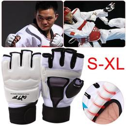 $enCountryForm.capitalKeyWord Australia - Kids Adults Taekwondo Half Fingers Boxing Gloves Sandbag Training Gloves Sanda Karate Muay Taekwondo Protector