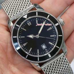 Luxury Watches Heritage Australia - Upgraded version Top Quality Luxury mens watch Superocean Heritage Black Stainless Steel A1732024 Eta 2813. Automatic Movement men watch