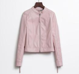 $enCountryForm.capitalKeyWord Australia - High Quality Jacket 2018 New Buttoned Leather Slim Slim Collar Short Washed PU Motorcycle Leather Jacket 's