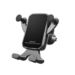 cell phone holder clamp Australia - New Cell Phone Holder for Car Auto-Clamping Air Vent Car Mount Holder Cradle for iPhone Samsung Huawei Meizu Smartphones