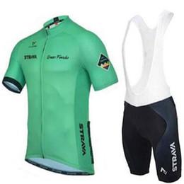 $enCountryForm.capitalKeyWord Australia - Ropa ciclismo 2019 Pro Team STRAVA Cycling Short Sleeves jersey bib shorts sets kit Mens tour de france clothing outdoor mtb bike sportswear