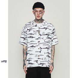 Mens Patterned Tees Australia - Mens Shirts 2019 Spring & Summer New Casual Tees Stylish Salted Fish Pattern Short Sleeves Loose Letter Print Personalized T-shirt