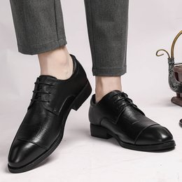 $enCountryForm.capitalKeyWord Australia - Formal Office Shoes Four Seasons Genuine Leather Men Shoes Pointed Toe Hand-made Casual Flats Men Business Oxfords Leather