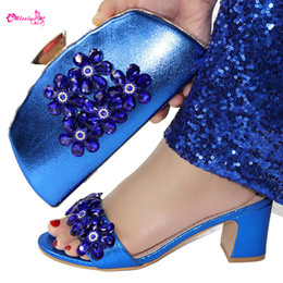 $enCountryForm.capitalKeyWord Australia - Latest African Women Shoes Bags Set Decorated with Rhinestone African Shoe and Bag Sets Matching Shoes and Bag Set Party Shoes