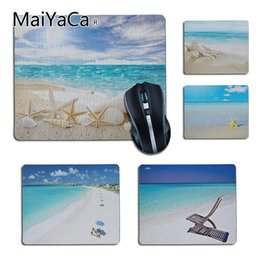 $enCountryForm.capitalKeyWord Australia - MaiYaCa Good Use Summer Beach Shells on the white sand small gaming Mouse pad PC Computer mat Notebook Non-Slip anime Mouse pad
