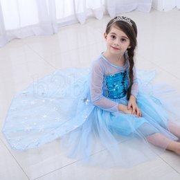 Princess Dress Girl Kids Short Sleeve Sequins Glitter Patchwork Cosplay Princess Dress Skirt Kids Costume Clothes O-OA6894 on Sale