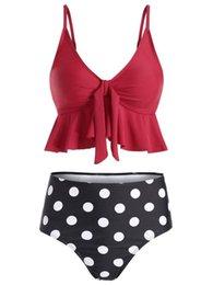 $enCountryForm.capitalKeyWord Australia - 2019 Womens Swim Wear High Waist Bikini Sexy Girls Swimwear Lotus Leaf Ruffle Comfortable Good Material A2536SHC