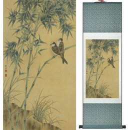 scroll paintings Australia - Traditional Chinese Art Painting Horse Art Painting Silk Scroll Art Painting 061403