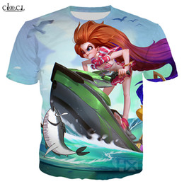2020 New Style jeu League of Legends T-shirt Hommes Femmes 3D Imprimer Pool Party Zoe Lulu Kennen peau Hauts à manches courtes Mode