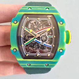 $enCountryForm.capitalKeyWord NZ - Luxury Top Brand 67-02 Van Niekerk Green NTPT Carbon Fiber Sports Automatic Men Watches Openworked Dial Ribbon Canvas Strap Mens Wristwatch