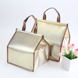 Hand bag cake online shopping - Hand Cake Lunch Box Bag Heat Insulation Collapsible Aluminum Foil Cylinder High Capacity Waterproof Package Portable Thickening ctC1