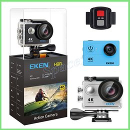 touchscreen hdmi UK - 2pcs Original EKEN H9R with remote control 4K Ultra HD WiFi HDMI 1080P 2-inch LCD 170 Wide Angle Lens EIS Sports camera waterproof
