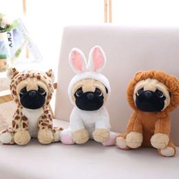 Dog Gifts For Christmas Australia - Pug Plush Toy Cute Animal Soft Stuffed Doll Dog Cosplay Dinosaur Kids Toys Birthday Christmas Gift for Children