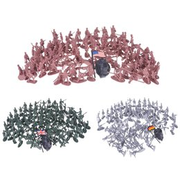 China 100pcs set Plastic Toy Soldiers Military Army Men Figures 12 Poses Gift Toy Model Action Figure Toys For Children Boys suppliers