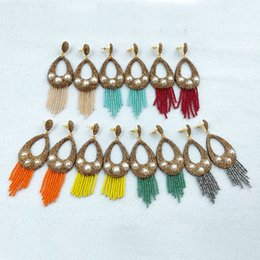 $enCountryForm.capitalKeyWord Australia - Water-drop leather charm pave Crystal rhinestone pearl earrings,tassels dangle earrings For Women Jewelry Xmas gift ER838