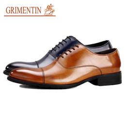 $enCountryForm.capitalKeyWord NZ - GRIMENTIN Hot sale high grade mens oxford shoes genuine leather formal business wedding men shoes for fashion 5 colors mens dress shoes CW