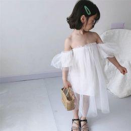 $enCountryForm.capitalKeyWord Australia - Stylish INS Designer Summer Girls Princess Dress Vestidos Kids Party Birthday Wedding Dresses Off-shoulder Fly Sleeve Girls Clothes