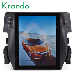 Honda dvd player online shopping - Krando Android quot Tesla style Vertical screen car radio GPS navigation dvd for Honda Civic multimedia car dvd KD HC232