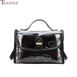 $enCountryForm.capitalKeyWord Australia - Transer Shoulder Bag Women 2019 Fashion Transparent Handbag For Women Lady Casual Solid Color Composite Bags Tote Bolsa Feminina