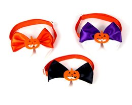 $enCountryForm.capitalKeyWord Australia - Pet puppy Cat Dog Halloween pumpkin adjust bow tie accessories necklace collar bowknot necktie grooming for pet supplier decoration Costume