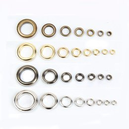 sew clothes accessory Canada - Insider diameter 10MM silver METAL EYELETS buttons for Scrapbooks sewing clothes accessory DIY craft gifts stainless steel