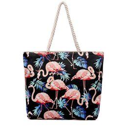 green tote bags wholesale 2019 - 2019 Women Canvas Shopping Foldable Shoulder Bag Handbag Large Capacity Ladies Striped Beach Bag zipper Female Tote Clut