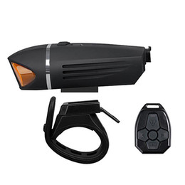 $enCountryForm.capitalKeyWord UK - 350lm USB Rechargeable Super Bright Bicycle Headlight 10m Wireless Remote Control Built-in 120 DB Speaker Bicycle Front Light