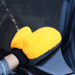 velvet brush Australia - 1PC Coral Velvet Plush MiWash Car Mitten Washing Brush Cleaning Glove Tools Automobiles Automobiles Tools Vehicle Accessories