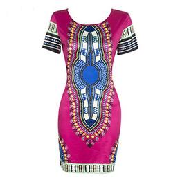 dresses horse prints 2019 - Knight Horse Women Traditional African Print Dashiki Bodycon Plus Size Short Sleeve Dress cheap dresses horse prints