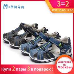 closed toe sandals NZ - Mmnun 2018 Sandals For Boy Orthopedic Kids Shoes Children Boys Sandals Flat Shoes Closed Toe Kids Sandals Size 22-32 Ml2623 Y19051602