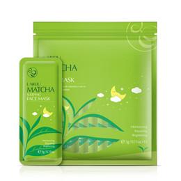 15pcs Grüner Tee Schlafmaske Reparatur CellsReplenish Wasser kosmetische Feuchtigkeits Reparieren Brightening Gesicht Schlafmaske im Angebot