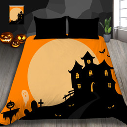 $enCountryForm.capitalKeyWord NZ - Halloween Cartoon Bedding Set Twin Size Fashion 3D Duvet Cover Hot Selling Queen King Full Single Double Bed Cover with Pillowcase 3pcs