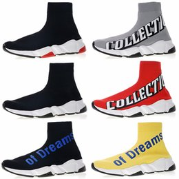 $enCountryForm.capitalKeyWord Canada - 2019 Luxury Designer Sneakers Mens Womens Speed Stretch Knit Sock Shoes Of Dreams Europe Collection Double B Black White Boots Chaussures