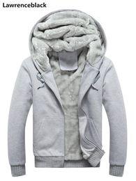 Nice Men Hoodies Australia - Winter Thick Warm Hoodies Men Nice Brand Male Long Sleeve Solid Sweatshirt Cotton Pullover Male Hoody Hip Hop Streetwear 0606
