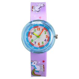 Hot Sale Cute Soft Silicon Cartoon Watches Children Kid Quartz Watch Sport Casual Bendable Rubber Strap Wrist Watch For Girls Boys Gift Watches