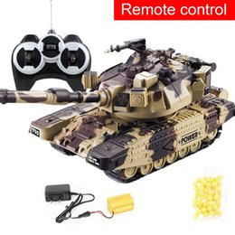 remote tanks toys NZ - 1:32 RC Battle Tank Crawler Tactical Vehicle Main Battle Military Remote Control Tank with Shoot Bullets Model Electronic Toys