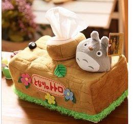 Cute Anime Cartoon Australia - Aeruiy Cute Creative Plush Cartoon Anime My Neighbor Totoro Napkin Box Toy ,Home  Car Decoration Box ,Birthday Gift For Girls ,1pc
