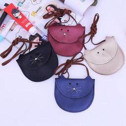 Cross bags for girls online shopping - Cute Cat Coin Purse Mini Shoulder Bag Hottest Messenger Bag For Kids Girls Children Small Bag LJJP222