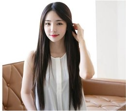 wigs performances NZ - European and American Hot Selling Popular Amazon Branch Bangs Long Straight Hair Anime Wig Fluffy Cos Performance Wig Wholesale