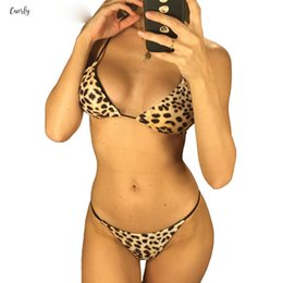 Wholesale bikini bathers online – Sexy New Brazilian Leopard Bikini Female Pieces Swimsuit Swimwear Two Bikini Set Bather Halter Bathing Suit Swim V934