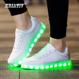 Light Up Shoes For Girls Australia - Kriativ Usb Charger Glowing Sneakers Lighted Shoes For Boy&girl Casual Led Shoes For Children Led Slippers Luminous Sneakers Y19051303