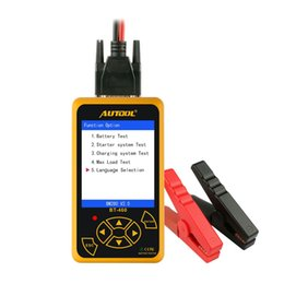 Led Readers NZ - AUTOOL BT460 12V Cars 24V Heavy Duty Battery Tester Lead-acid AGM GEL Battery Cell Analyzer 4'' TFT Colorful Display