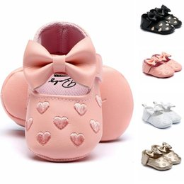 princess kids beds NZ - Baby Girl Shoes PU Soft Comfort Casual Bed Shoes Toddler Kid Baby Girls Ballet Princess Cute Toddler First Walk Soft Leather Bow