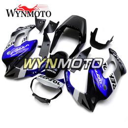 Honda Frames Australia - Black Blue Silver Body Frames for Honda VTR1000F Firestorm 97 98 99 00 01 02 03 04 05 ABS Plastic Injection Covers Motorcycle Cowlings