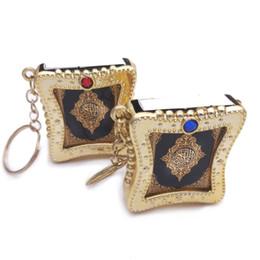$enCountryForm.capitalKeyWord Australia - 1Pcs New Muslim Keychain Resin Islamic Mini Ark Quran Book Real Paper Can Read Pendant Key Ring Key Chain Religious Jewelry