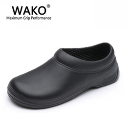 $enCountryForm.capitalKeyWord Australia - WAKO Men Chef Shoes Male Sandals for Kitchen Workers Super Anti-skid Man Non Slip Shoes Black Cook Safety Clogs Size 36-45
