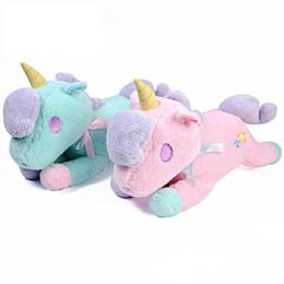 $enCountryForm.capitalKeyWord UK - 47*35cm unicorn plush toy paper towel smoking doll birthday gift for girls can add logo customization