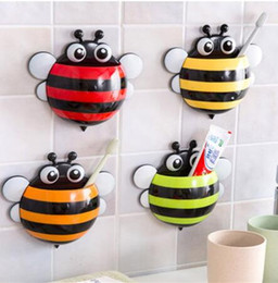 Wholesale Ladybug bee Sucker Children Kids Toothbrush Holder Suction Hooks Toothbrush Wall Suction Bathroom Sets GB1027