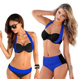 $enCountryForm.capitalKeyWord Australia - New Plus Size Bikini Push Up Swimsuit Women Big Size Patchwork Swimwear Beach Biquini Large Size Bathing Suit Strappy Swim Wear Y19072901